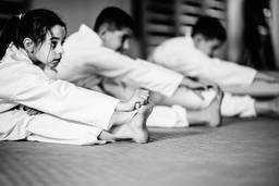 Martial Arts Kids Stretching