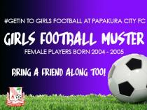 Girls Football Muster U15s & U16s Papakura (2110) Soccer Clubs _small