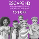 15% Discount Off Your Game at ESCAPE HQ Auckland! Takapuna (0622) Party Venues _small