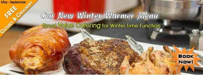 Winter Warmer menu catering from May through to September