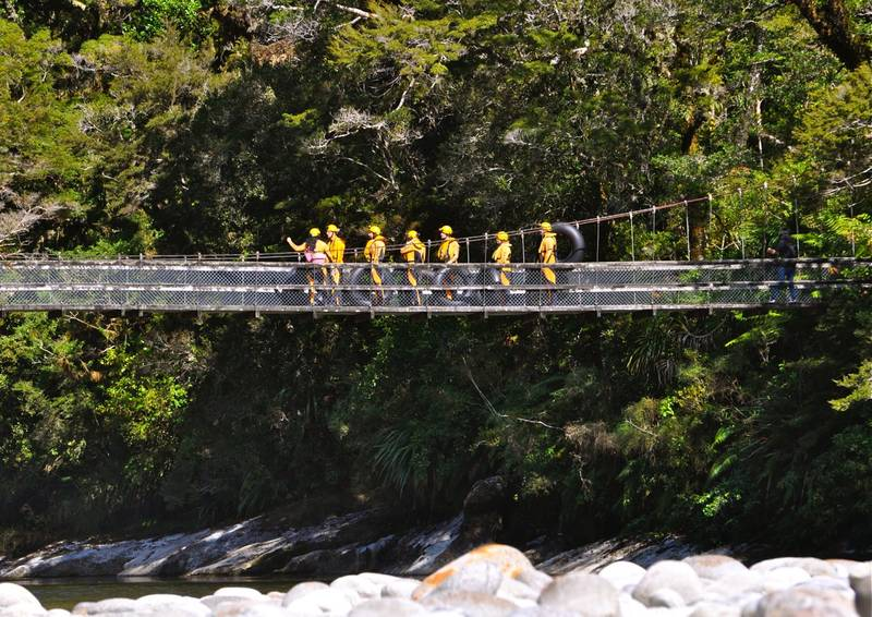 The Nile River Suspension Bridge on the walk up to the Nile River GlowWorm Caves