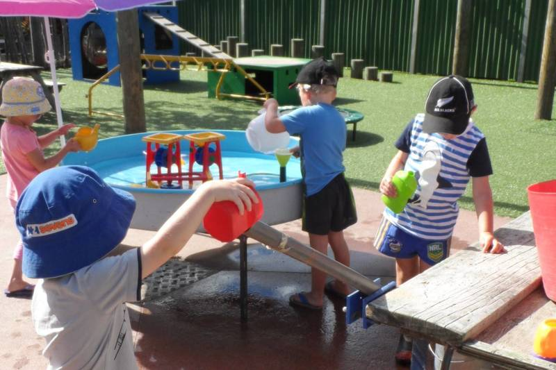 Water play at Preschool