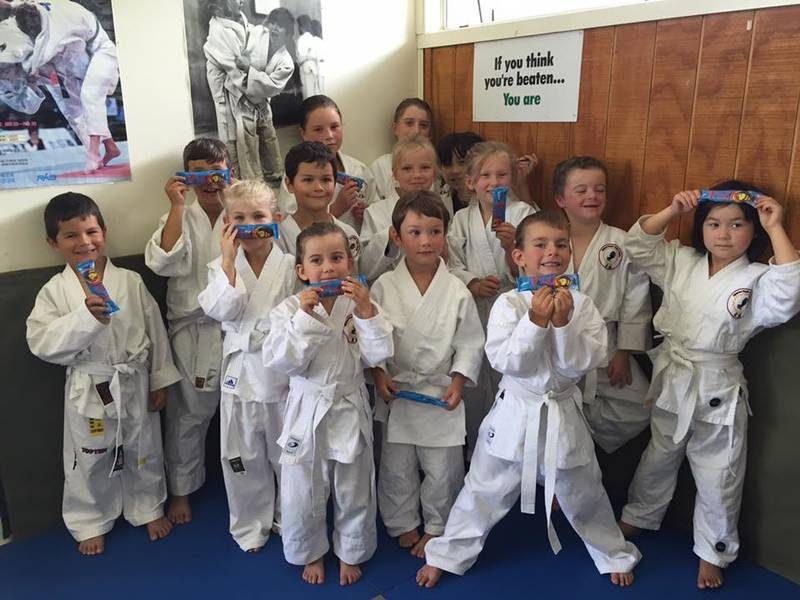 Junior 5-8yr class after a competition