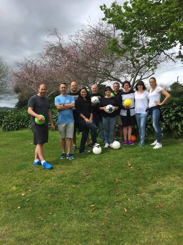 Corporate Group just finished their team building