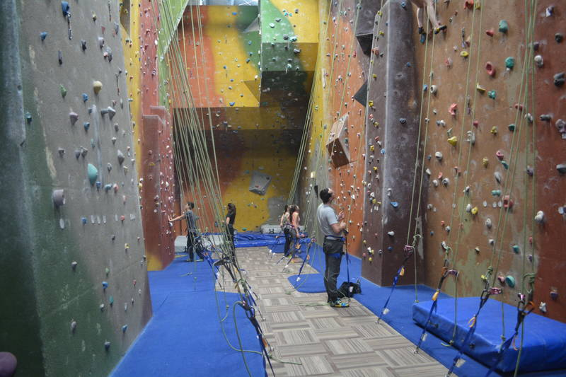 The more advanced manual belay walls are a great way to push yourself